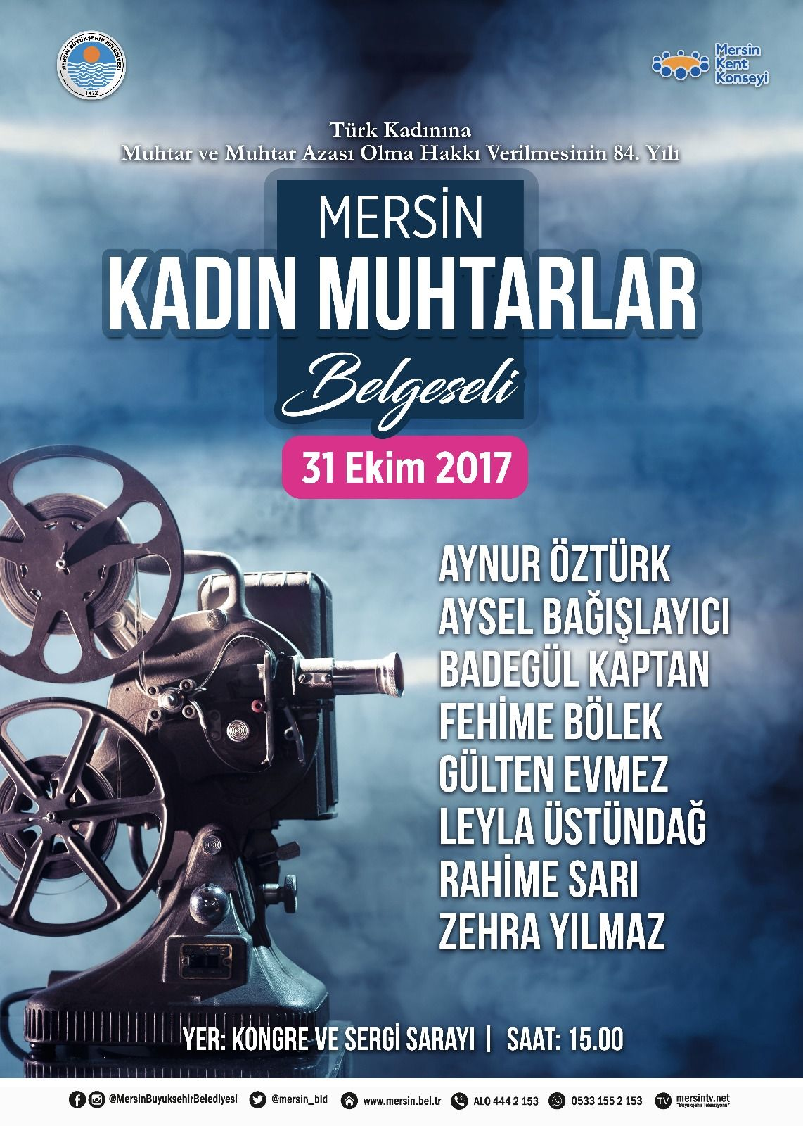 Mersin Kadın Muhtarlar Belgesel Film Gösterimi