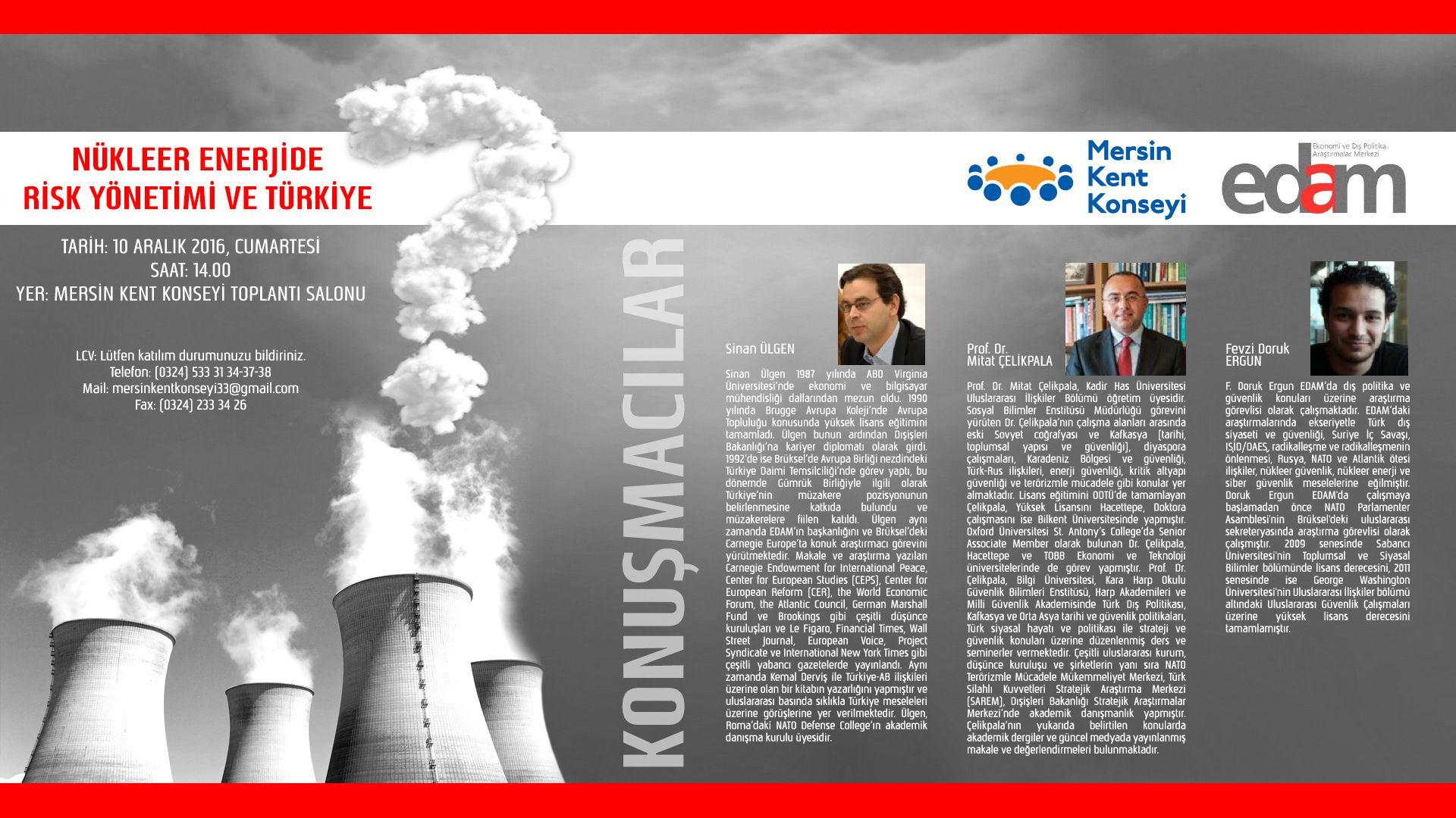 Nükleer Enerjide Risk Yönetimi ve Türkiye