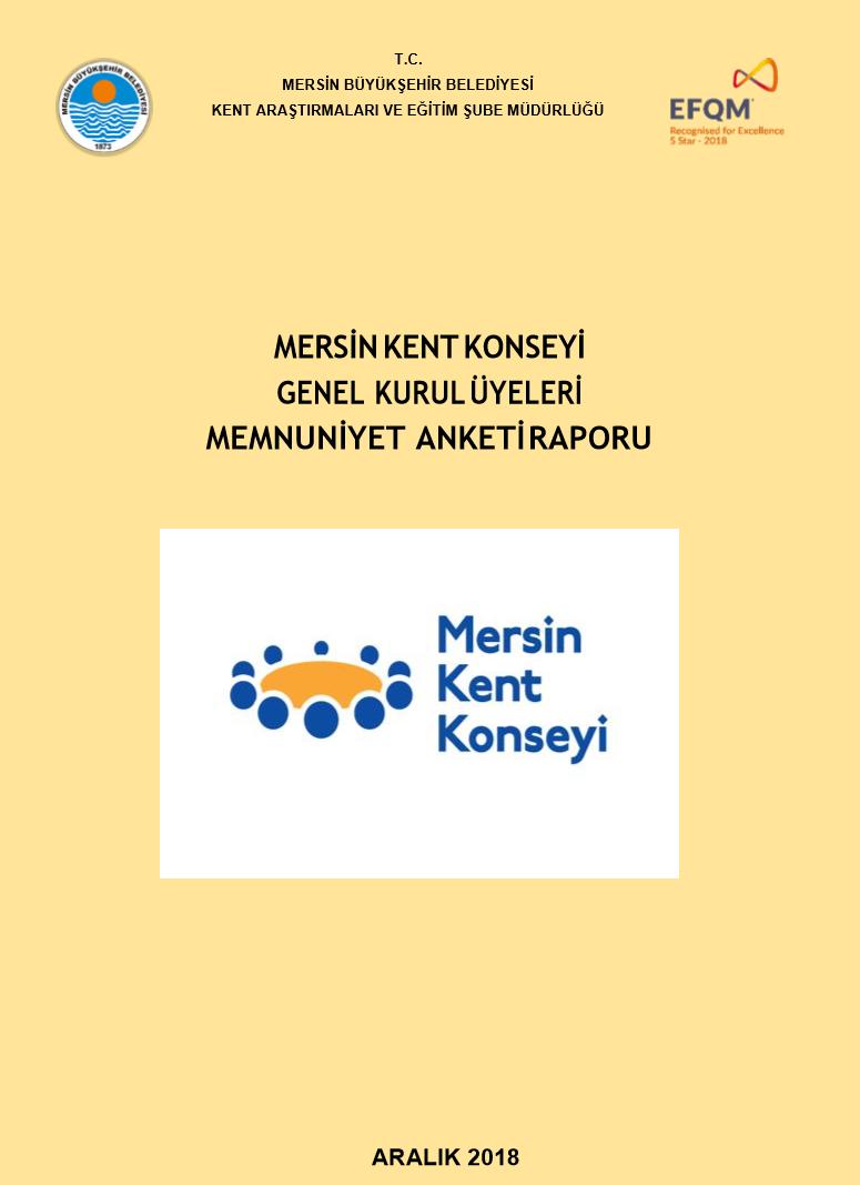 Mersin Kent Konseyi Memnuniyet Anketi Raporu (Aralık 2018)